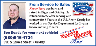 Gridley Ford Ad 413790