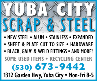 Yuba City Scrap and Steel Ad 2