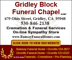 Gridley Block Funeral Chapel Ad 210874