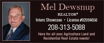 Mel Dewsnup Realty Ad 3884